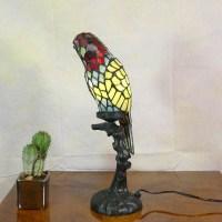 Tiffany lamp parrot