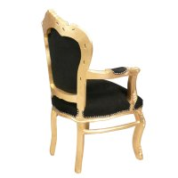 Baroque armchair black and gold - Baroque