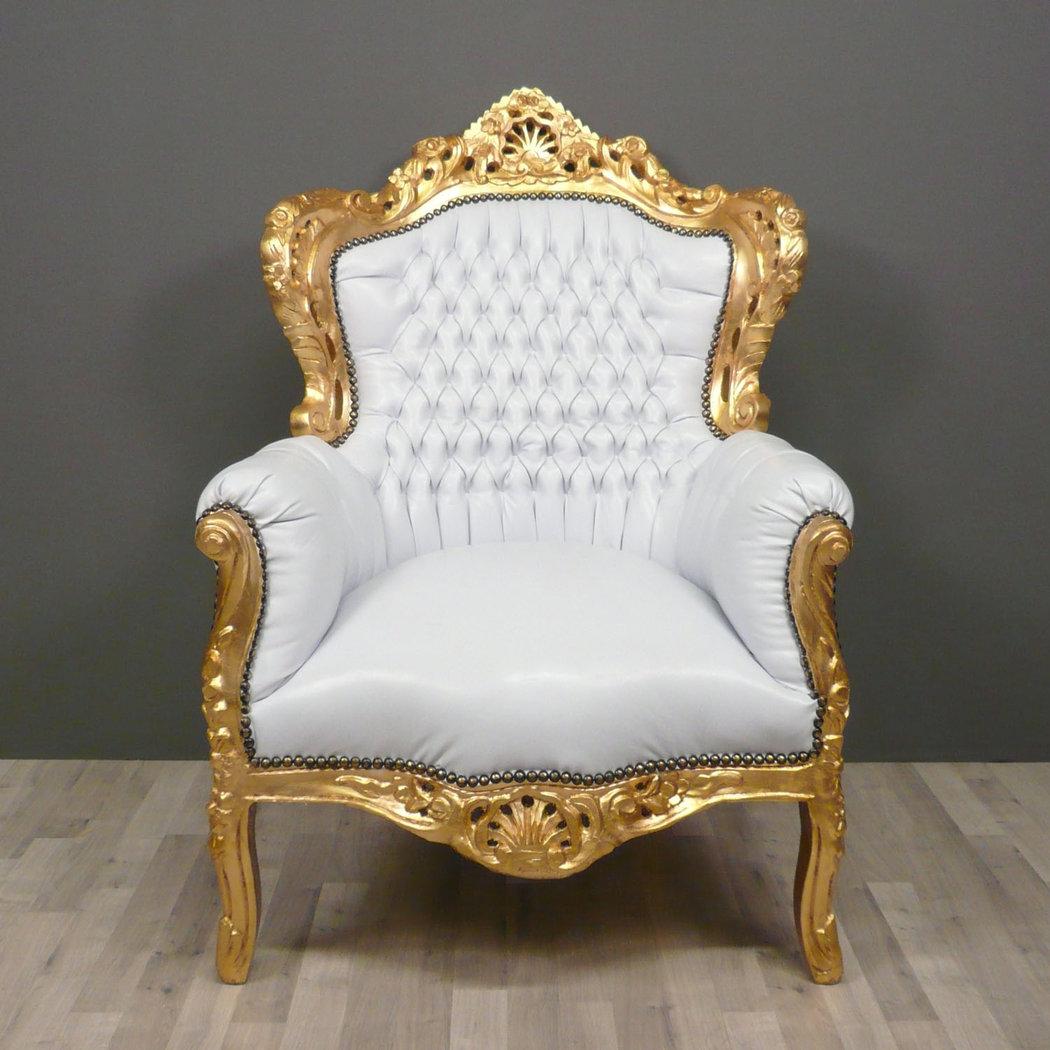 Silln barroco blanco  Muebles barrocos