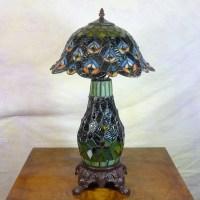 Tiffany style peacock lamp - Tiffany lamps - Bronze ...