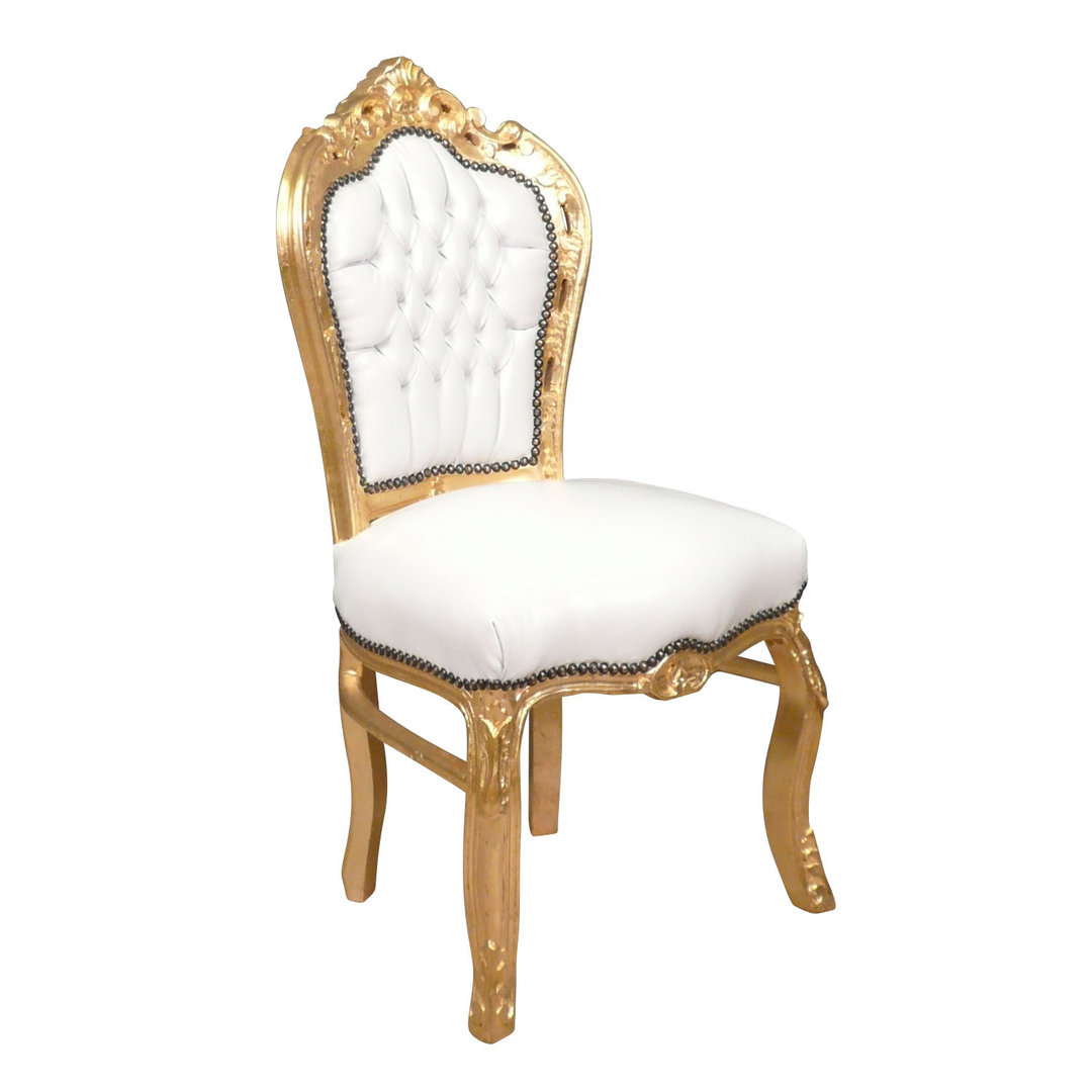white and gold chair king queen throne chairs baroque bronze statues