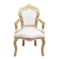 Baroque armchair white and gold - Baroque