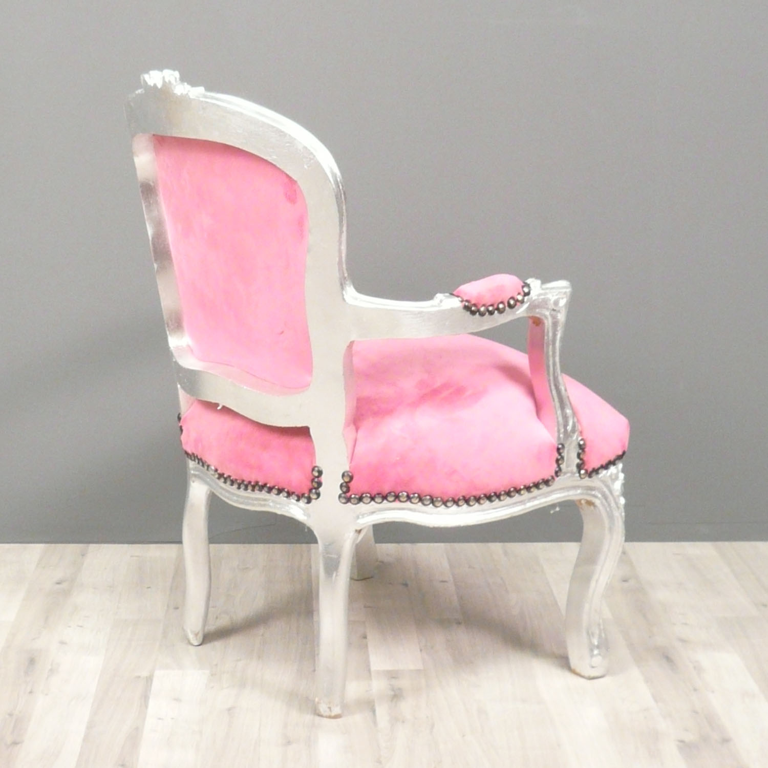 pink salon chairs wicker hammock chair with stand louis xv armchair children tiffany lamps bronze