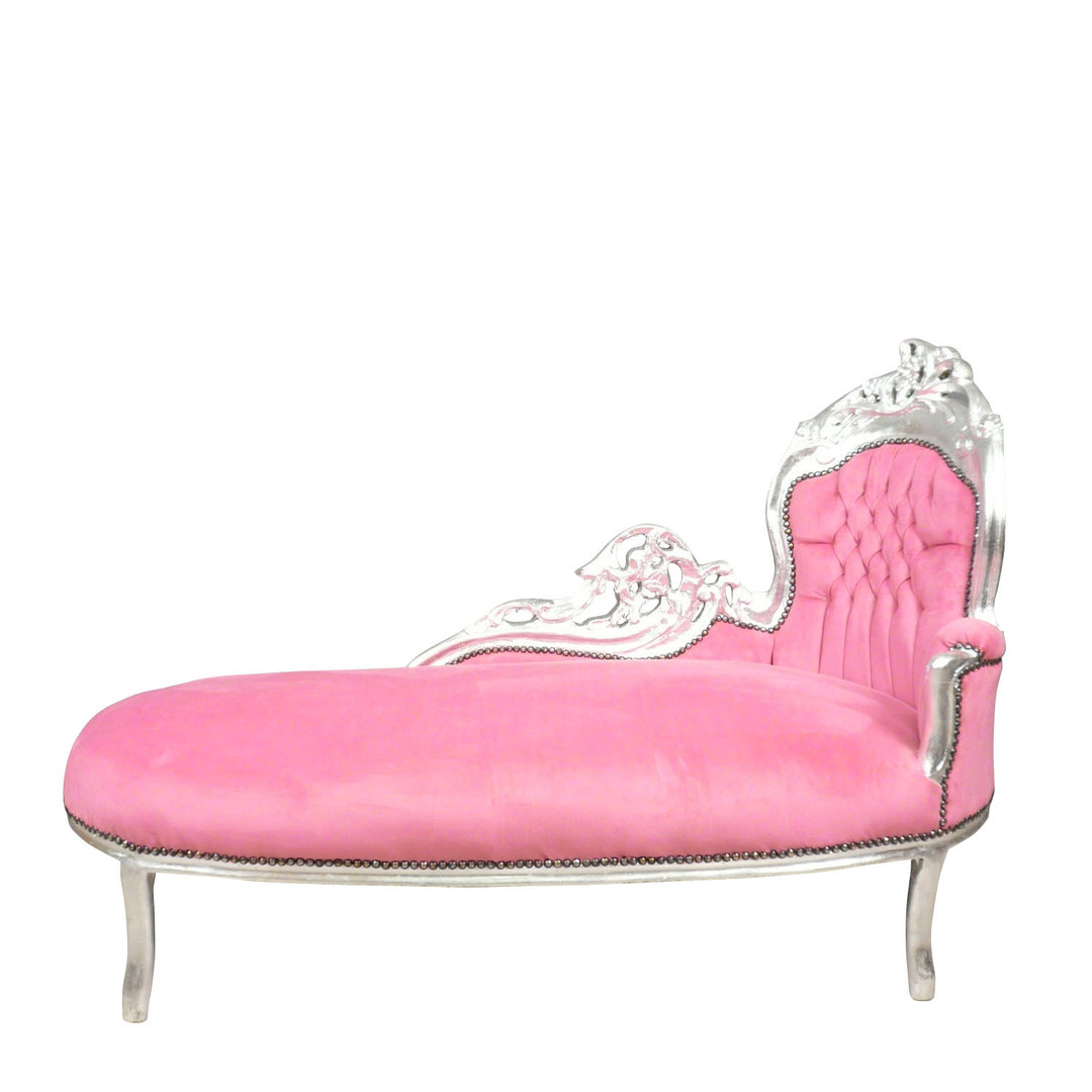 pink chaise lounge chair hampton bay outdoor chairs baroque and silver art deco