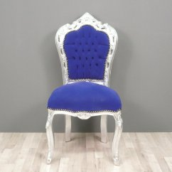 Iron Chair Price Wooden Arm Chairs Baroque Blue -