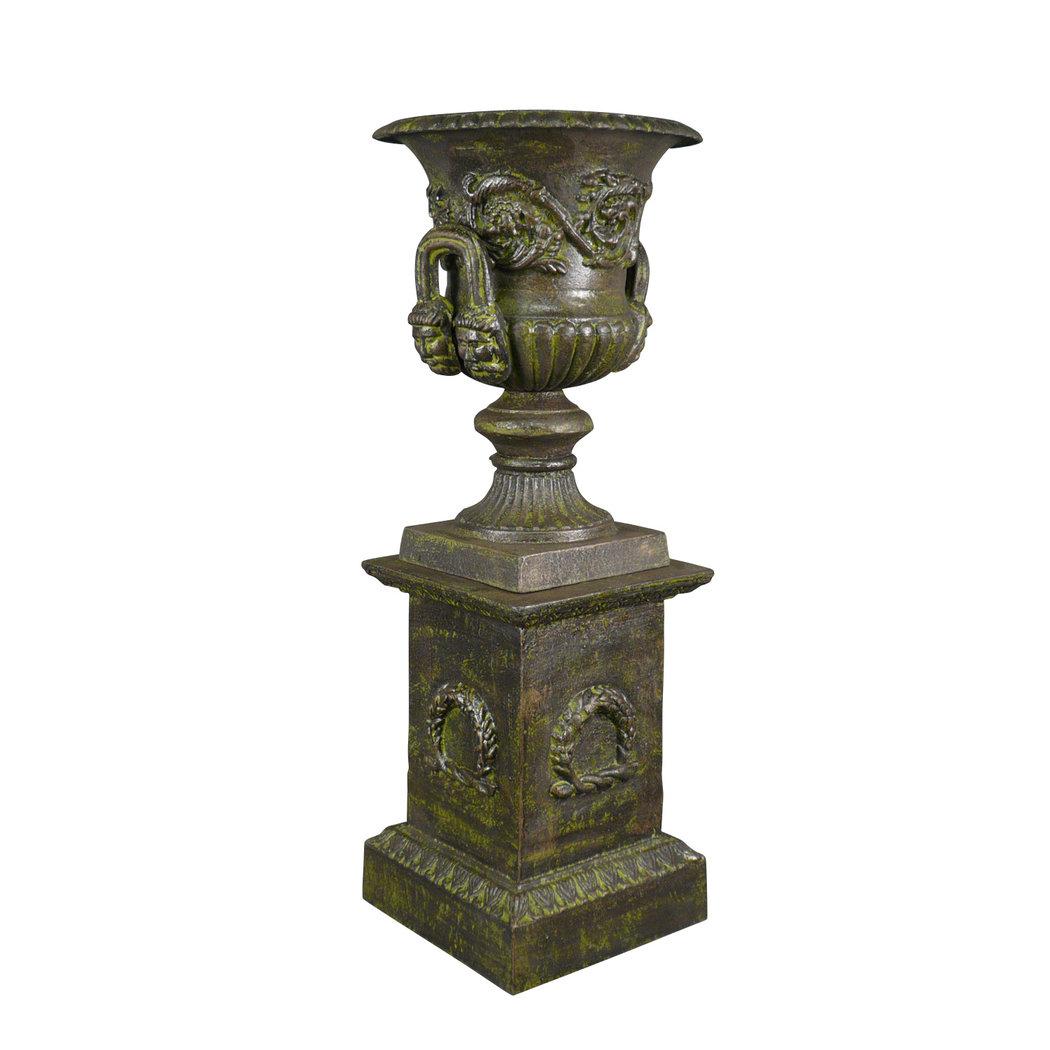 Vase Mdicis En Fonte Verte Socle Vase Fonte