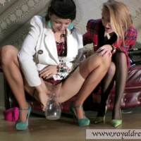 Lesbian Business Pee Ladies Piss Fully Clothed