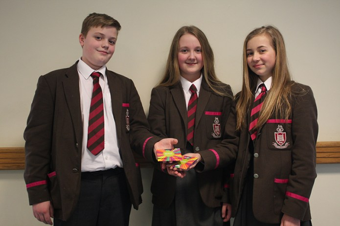 Congratulations to Oliver McIlravie, Chloe Acheson and Eve Talbot, all Year 8.