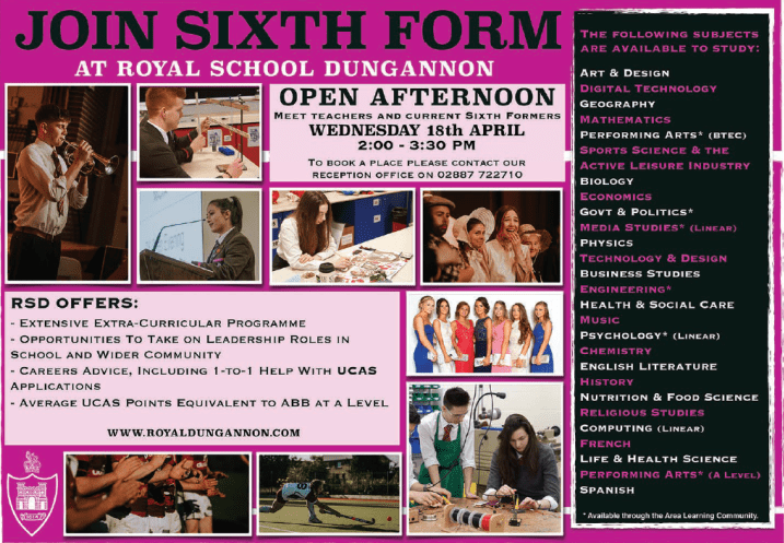 Join Sixth Form at RSD!