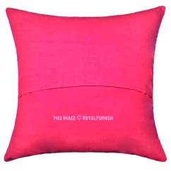 Pink Throw Pillows For Sofa How To Make A Slipcover Easy 16 Quot Indian Floral Kantha Accent Cotton Pillow