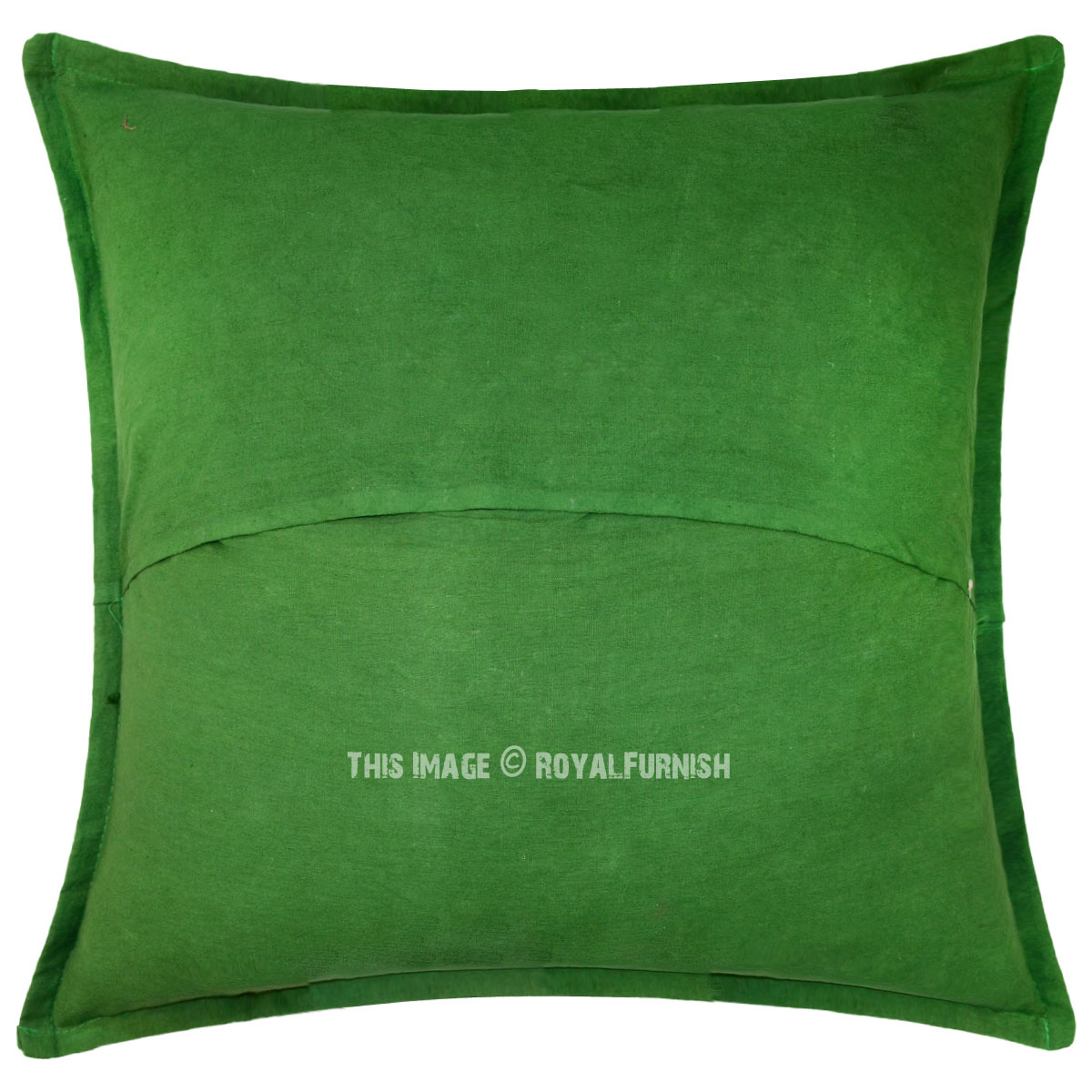 cotton sofa covers india timber article review green mirror embroidered indian throw pillow