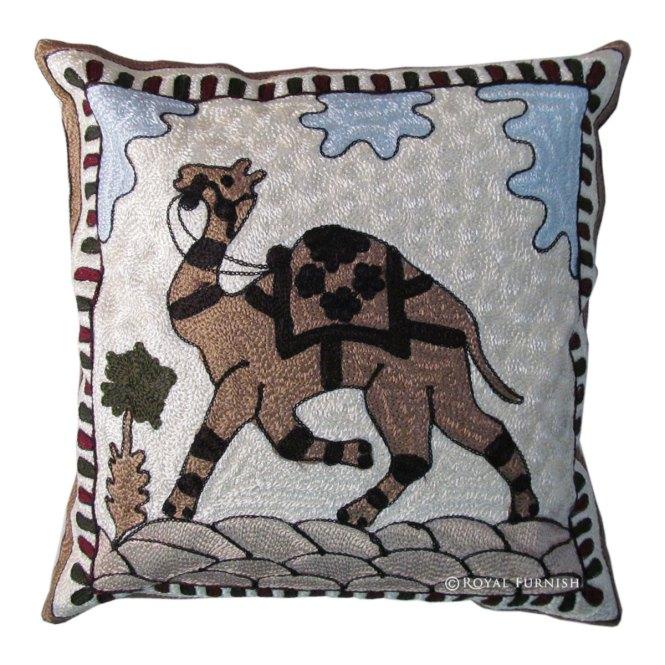 16 Blue Indian Cushion Pillow Covers Case Velvet Bird Print Ethnic Decorative