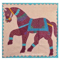 Big Size Horse Kantha Patchwork Fabric Wall Hanging Decor ...