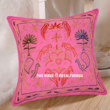 Indian Embroidered Throw Pillow