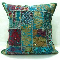 Tribal Bohemian Patchwork Decorative Throw Pillow