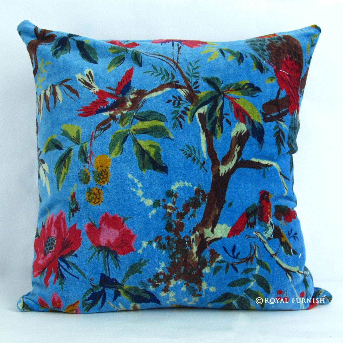 royal blue sofa fabric cushion covers sewing 16