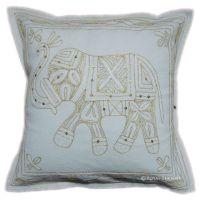 Handicraft Elephant Golden Thread Hand Embroidered ...