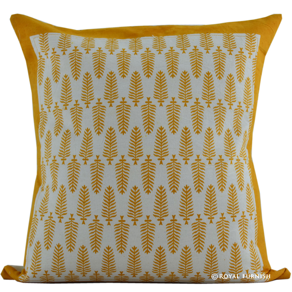 indian chair covers teen lounge 16 quot orange leaves hand block print cotton pillow