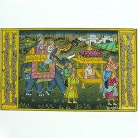 Rajasthani Traditional Mughal Procession Miniature ...