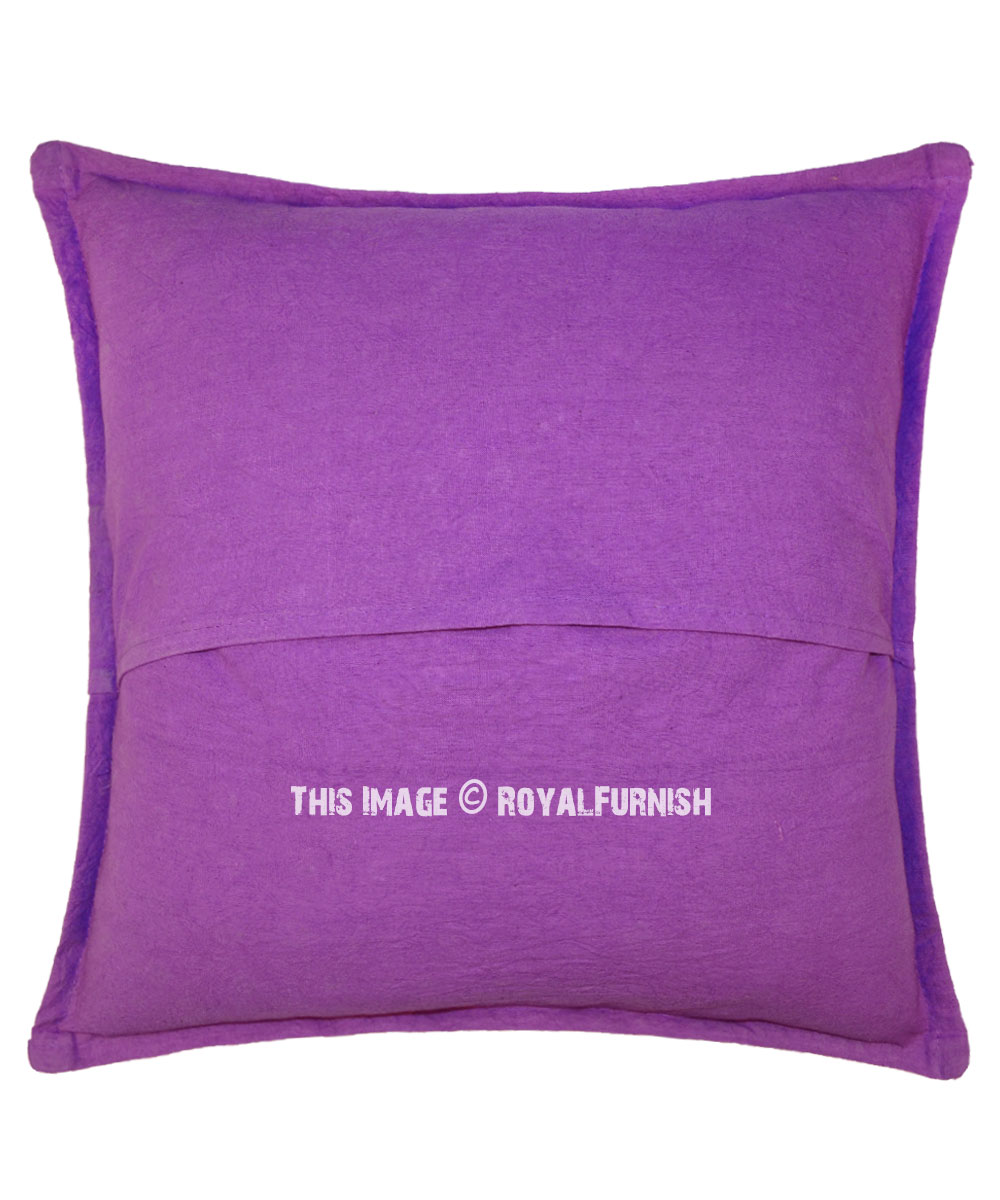 24 purple decorative accent indian mirrored throw pillow cover
