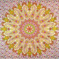 Colorful Paisley Medallion Circle Mandala Cotton Tapestry ...