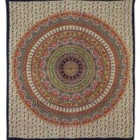 Queen Orange Multicolor Hippie Mandala Bohemian Tapestry ...