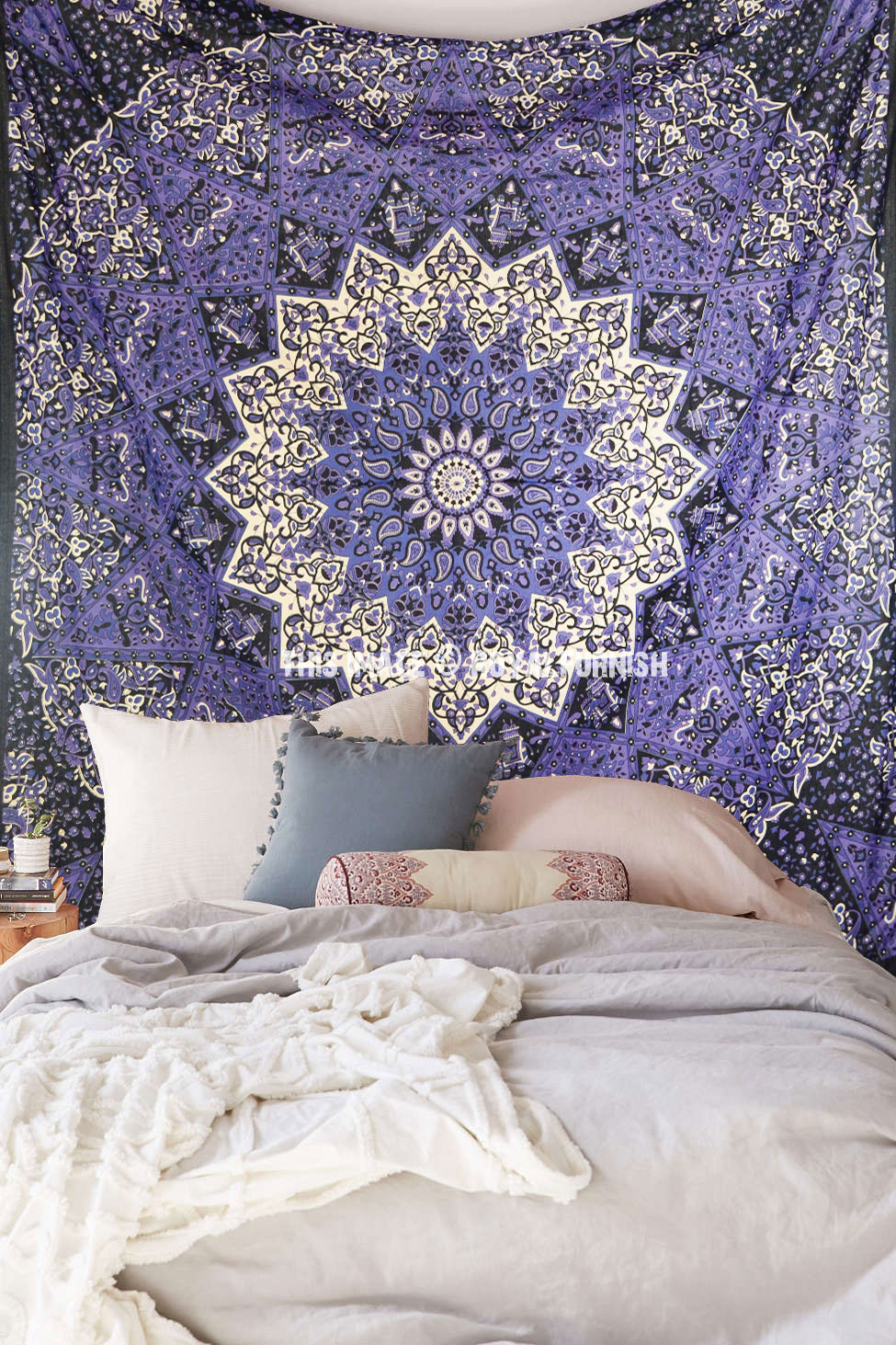 Colorful 3 D Star Mandala Tapestry College Dorm Psychedelic Hippie Wall Hanging Bedding