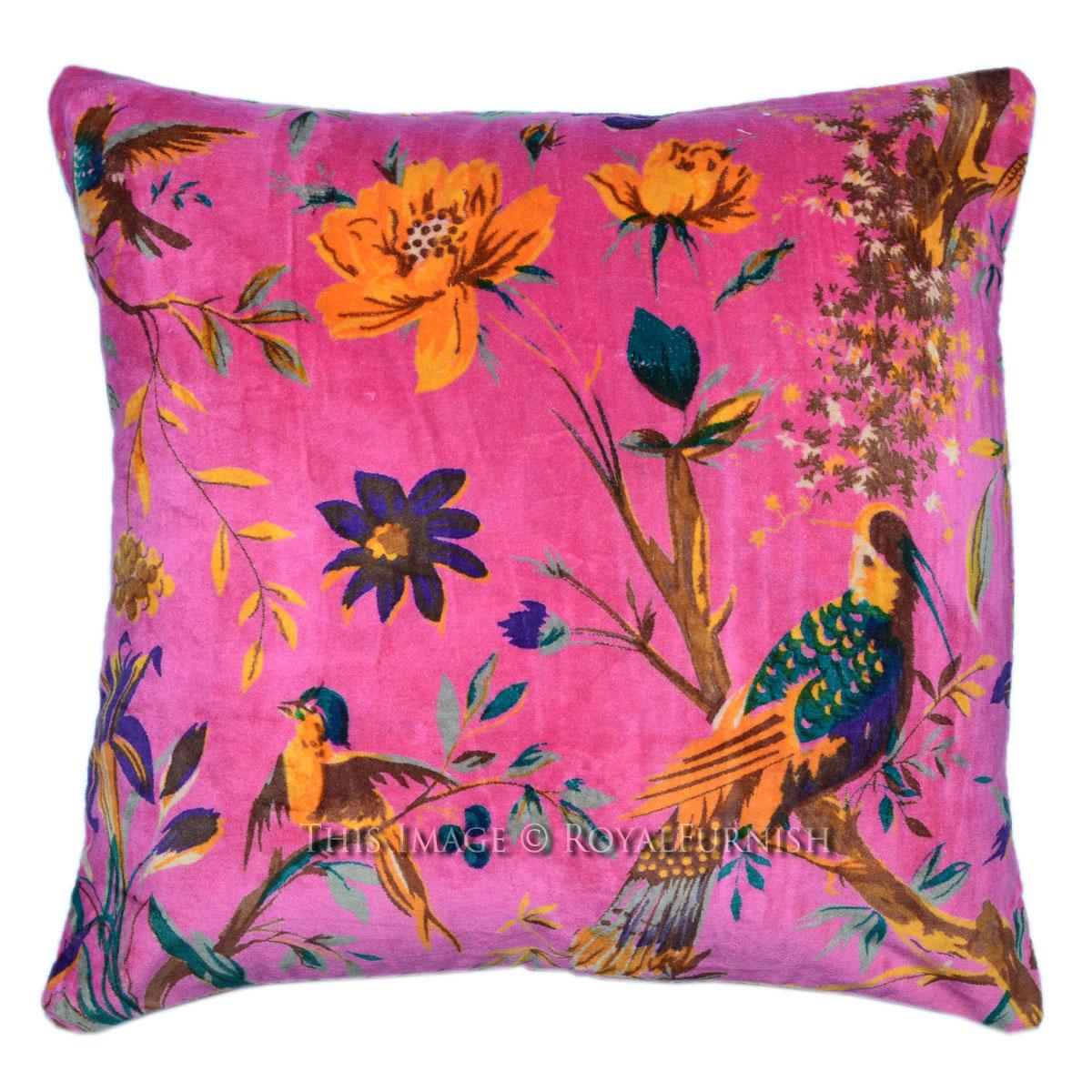 16X16 Pink Decorative  Accent Cheap Velvet Pillow Cover