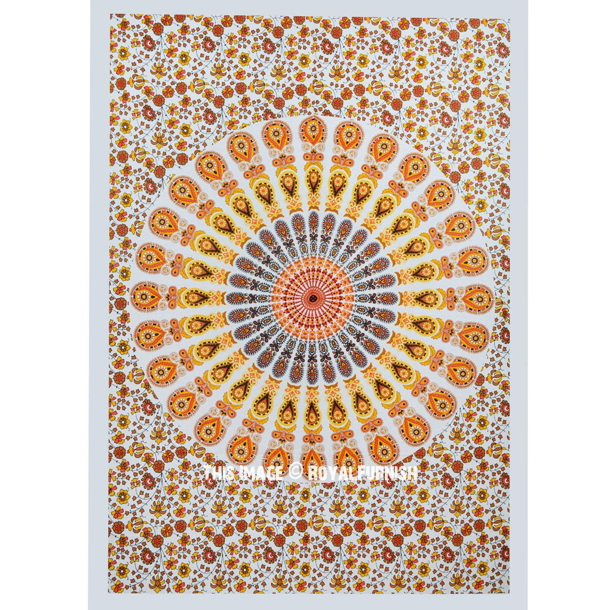 Yellow Colorful Cloth Fabric Mandala Poster Tapestry