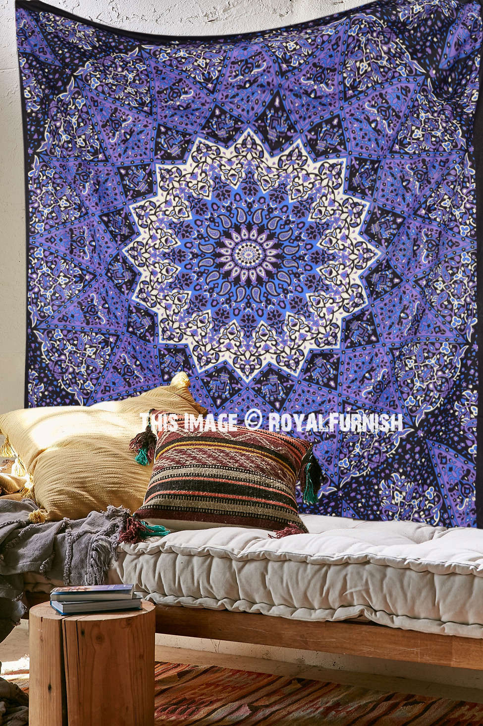 Colorful 3 D Star Mandala Tapestry Psychedelic Hippie Wall Hanging Bedding  RoyalFurnishcom