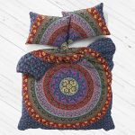 Purple Bohemian Hippie Mandala Duvet Cover Set With 2 Pillow Covers Royalfurnish Com