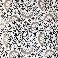 White & Black Decorative Floral Hand Block Printed Pillow ...