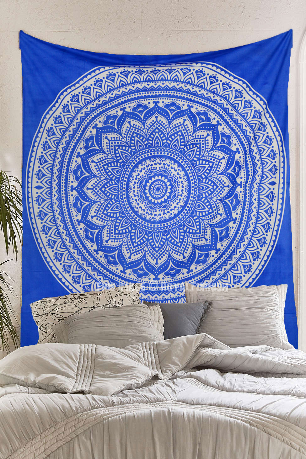 Royal Blue Bohemian Dreams Mandala Throw Bedspread Wall Tapestry  RoyalFurnishcom