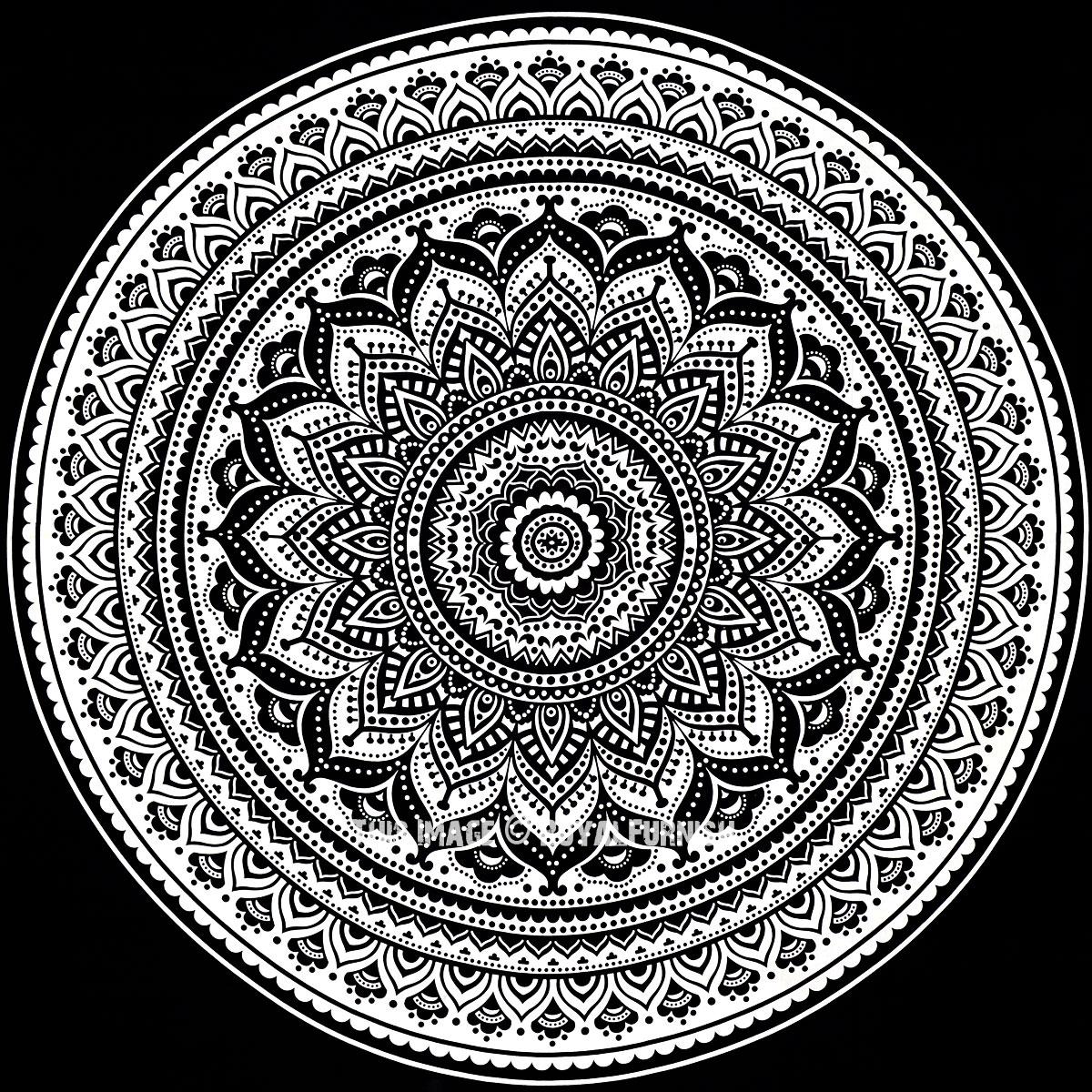 black white bohemian dreams