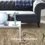 Grey Beige Marble Print Cotton Area Rug 4x6 Ft Royalfurnish Com