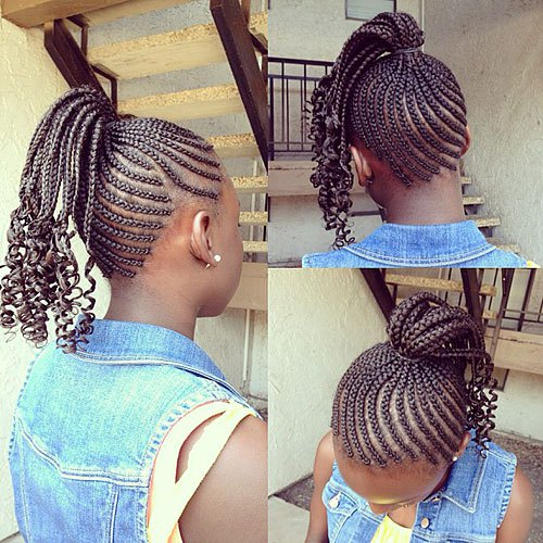 30 Easy For Little Black Girls Cornrow Hairstyles Hairstyles