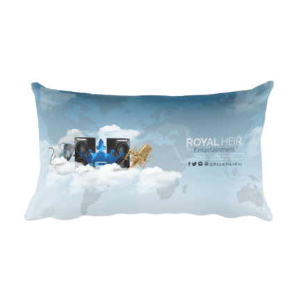 "Royal Heir Ent. ""Music to the World"" Rectangular Pillow"