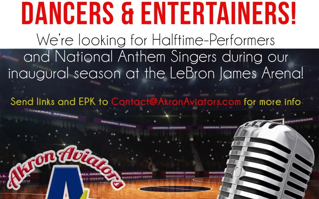 Halftime Performers Wanted for Professional Basketball Team