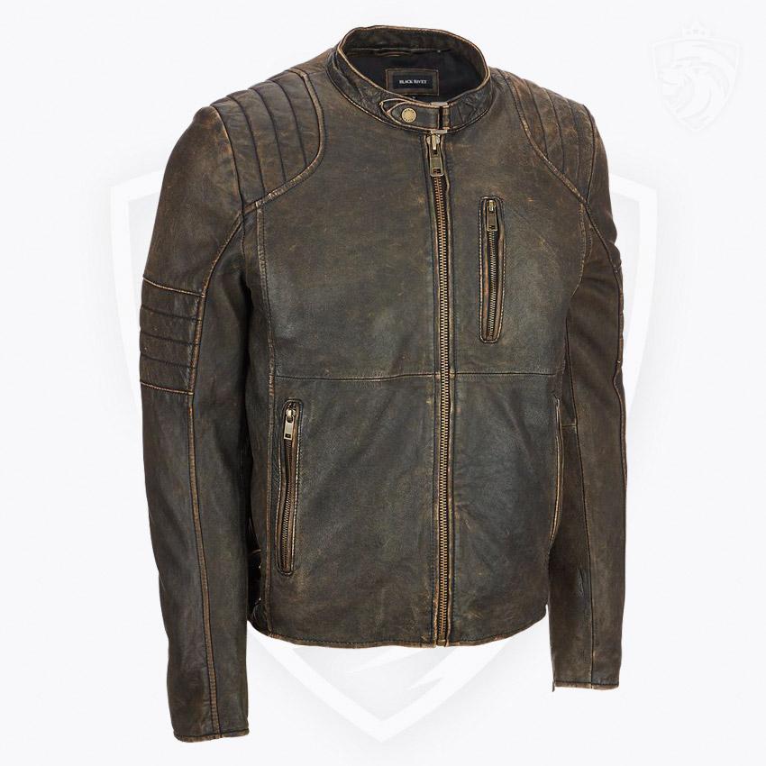 Black Rivet 100/% Leather Jacket