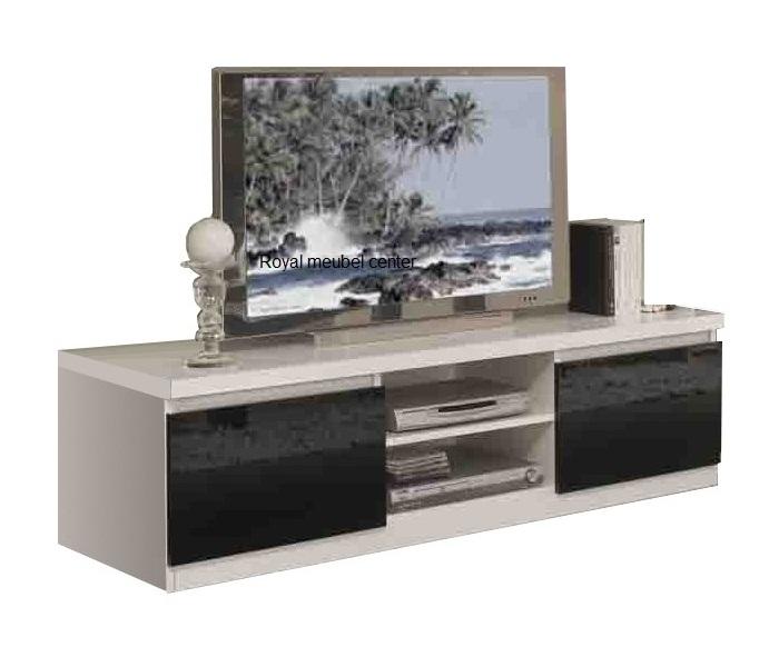Tv meubel Forever hoogglans wit zwart  TV plasma Tafels