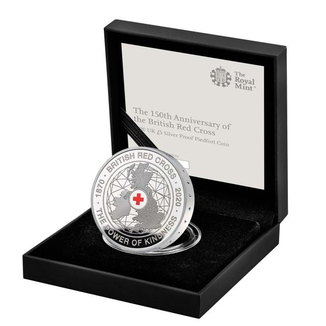 The 150th Anniversary of the British Red Cross 2020 UK £5 Silver Proof Piedfort Coin
