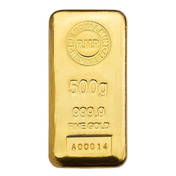 500g gold bar cast