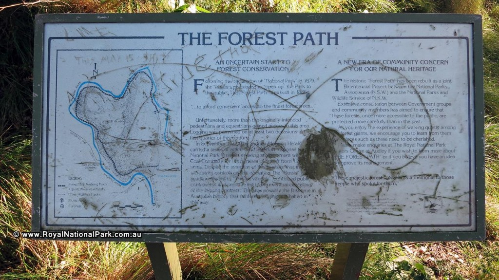Royal National Park - The Forest Path sign