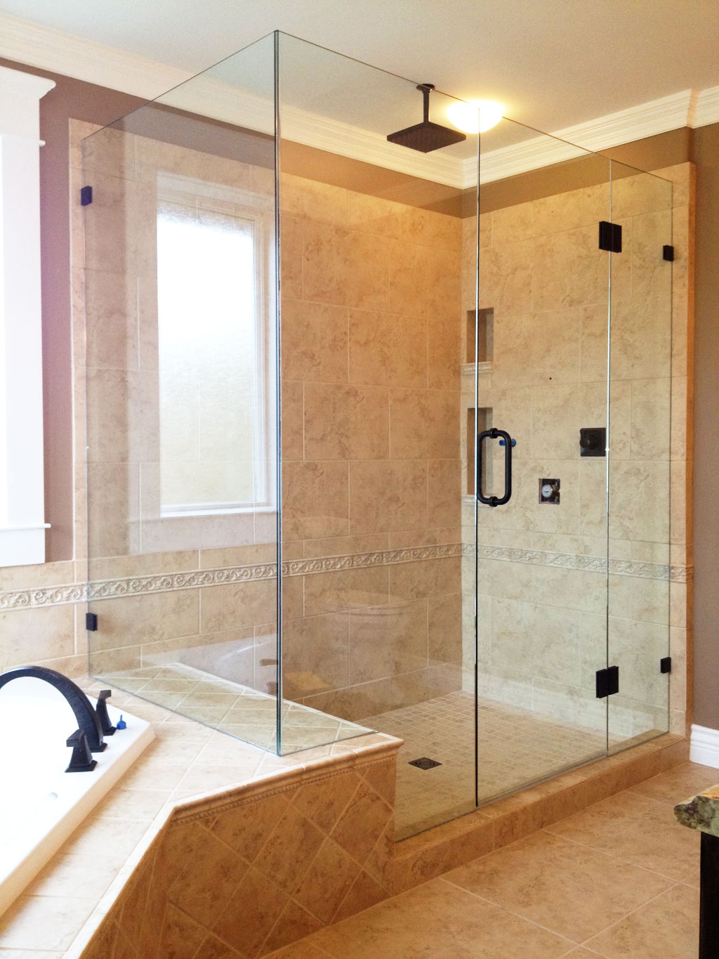 Picture gallery of our custom glass showers  bathrooms in