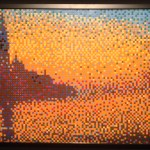 Lego Art of the Brick-Venice sunset by Monet
