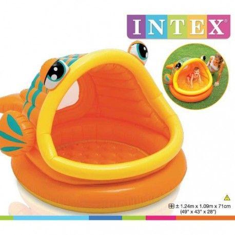 intex piscine gonflable bebe enfant pataugeoire poisson exotique 124 x 109 x 71 cm