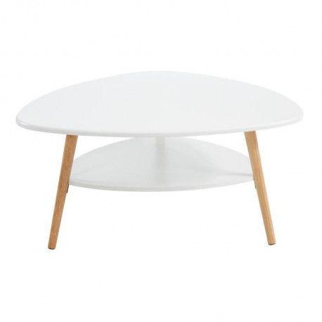 augustine table basse scandinave laque blanc satine 80x80 cm