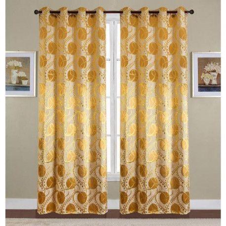 paire de double rideaux 140x260 cm beige taupe