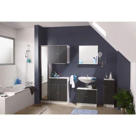 slash meuble bas de salle de bain l 59 cm gris anthracite