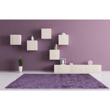 lucia tapis de salon shaggy fil fin brillant 100 polyester meches 40 mm 160x230 cm